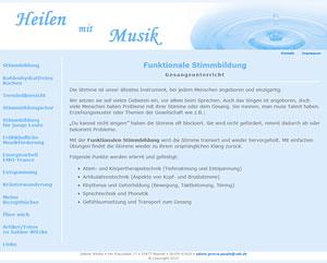 Website Sabine Witzke - Heilen mit Musik